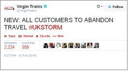 Virgin: Abandon all travel