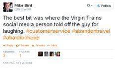 Virgin trains abandon travel